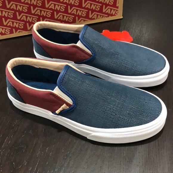 cozy fresh cheap sale official supplier Vans Shoes   Classic Slipon Textured Suede Sailor Blue   Poshmark
